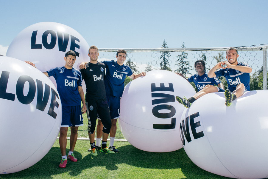 Big Love Ball plays with the Vancouver Whitecaps | Photo by Anick Violette
