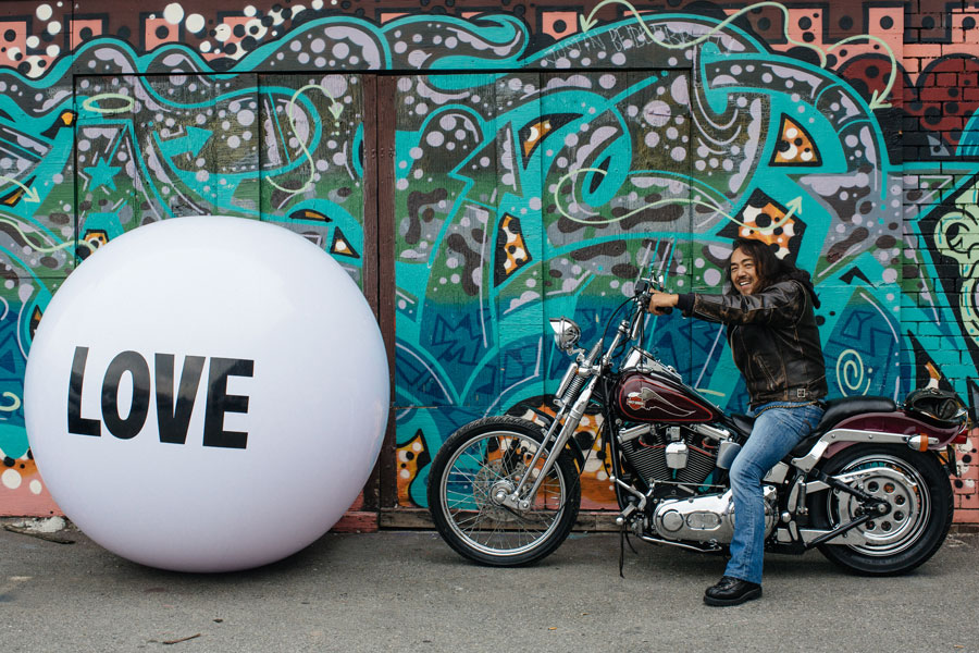Hiroshi Nakagowa with Big Love Ball | Photo by Anick Violette
