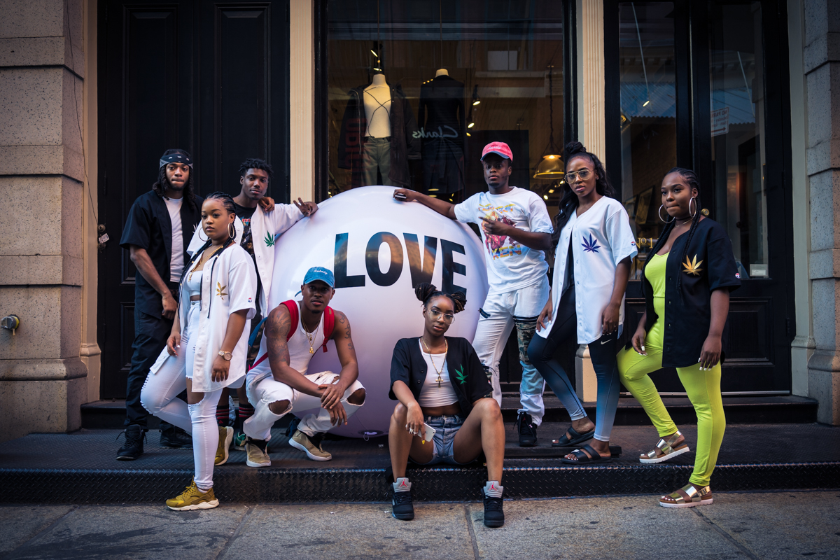 Rico Tharula and his squad chill with Big Love Ball in NYC | Photographed by Maddison Heisler
